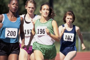 Women Running on Track