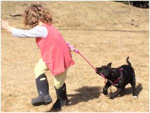 Emily and dog